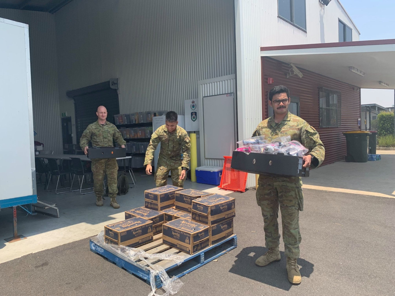 The Australian Army are working to help keep the firefighting effort going.