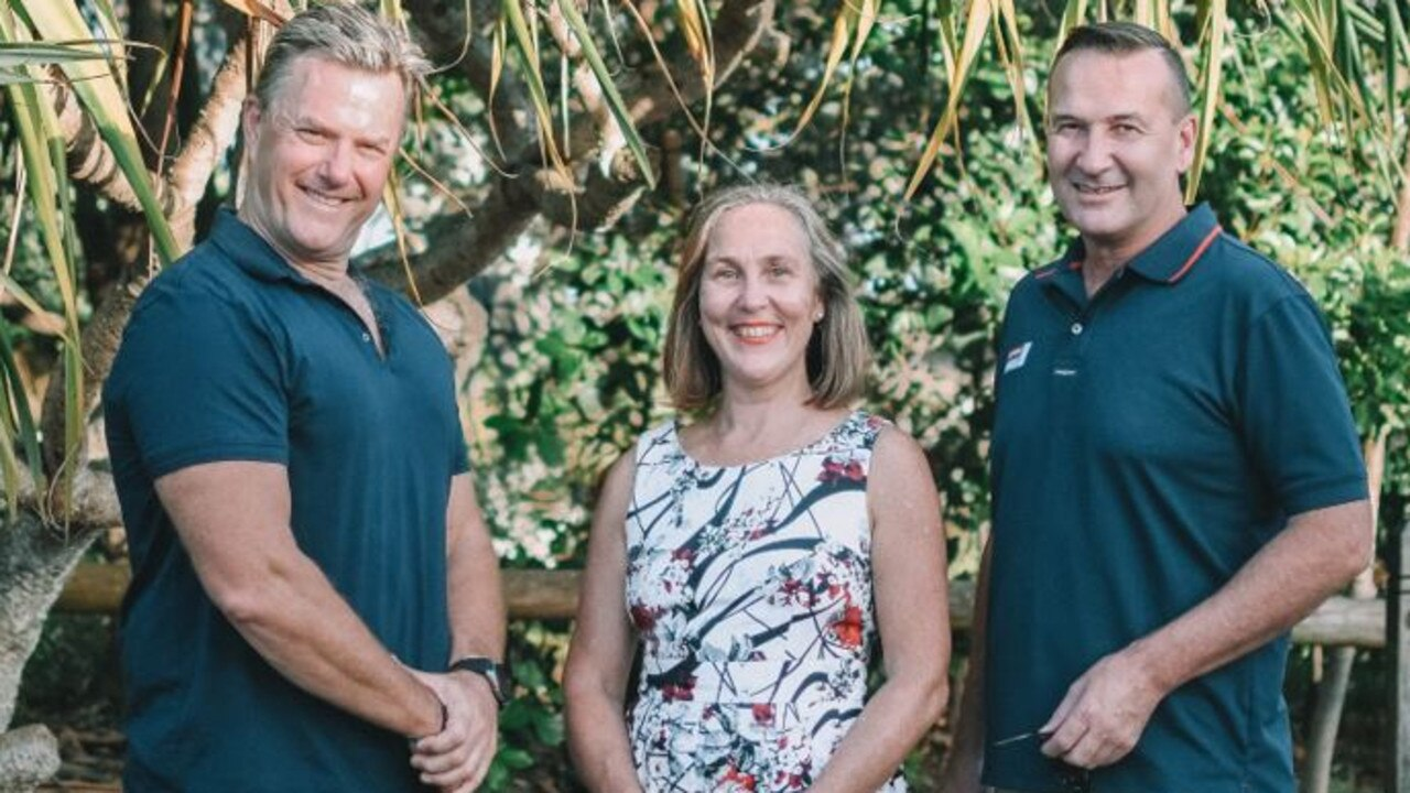 Candidates for the Future Noosa team to contest local government elections in March include from left David Fletcher, Karen Finzel and Andrew Squires. Photo: Contributed