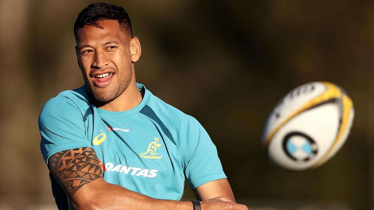 Israel Folau's sporting future remains uncertain. Picture: Getty Images