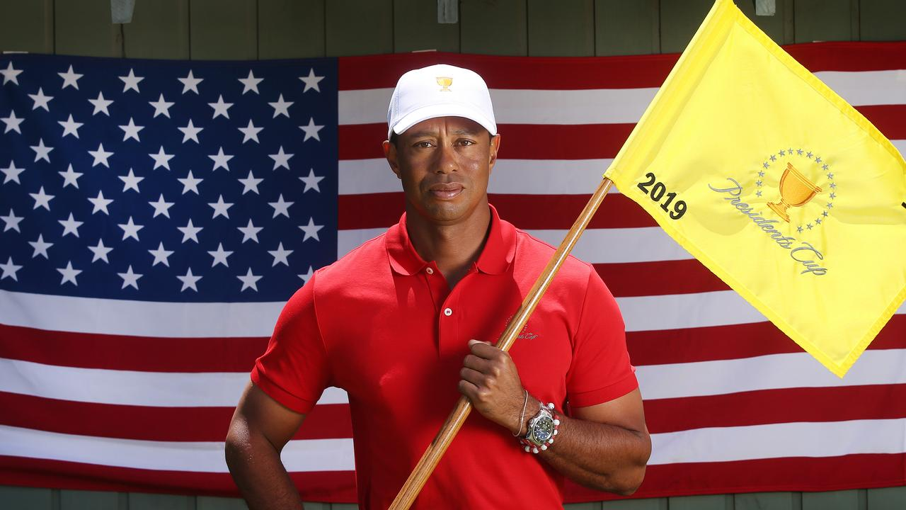 Tiger Woods is the playing captain for the American team. Pic: Michael Klein