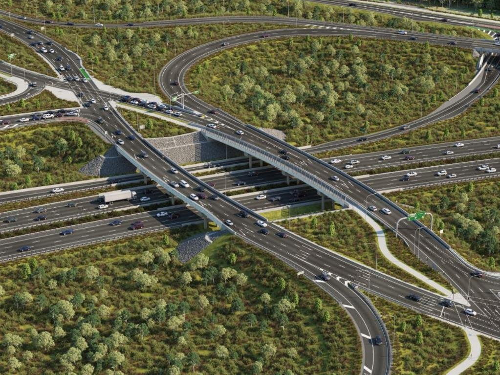 The diverging diamond interchange at Caloundra Rd will be open for tomorrow morning's traffic.