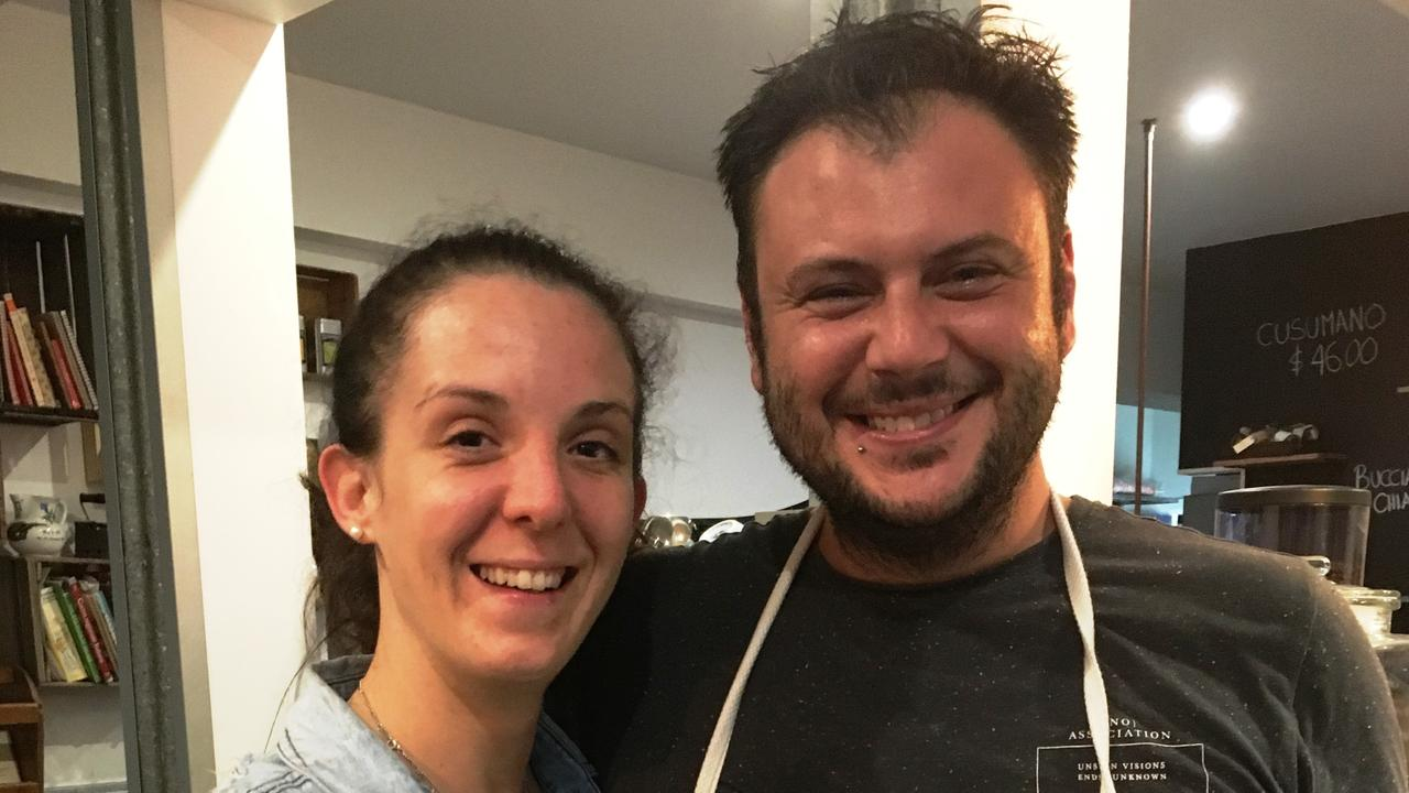 Giorgia and Luca Bassetto at Bacaro. Picture: Shirley Sinclair