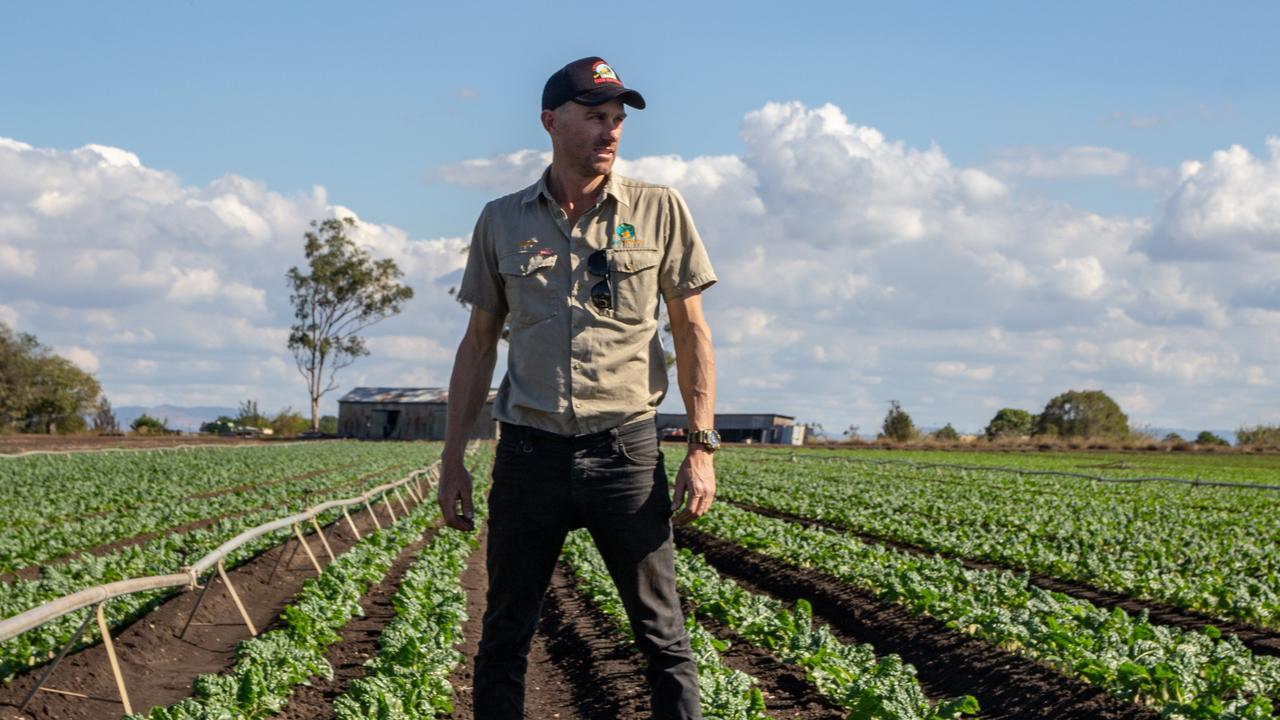Glenore Grove vegetable farmer Brett Simon grows shallots and broccolini on 113ha of farmland. Picture: Dominic Elsome