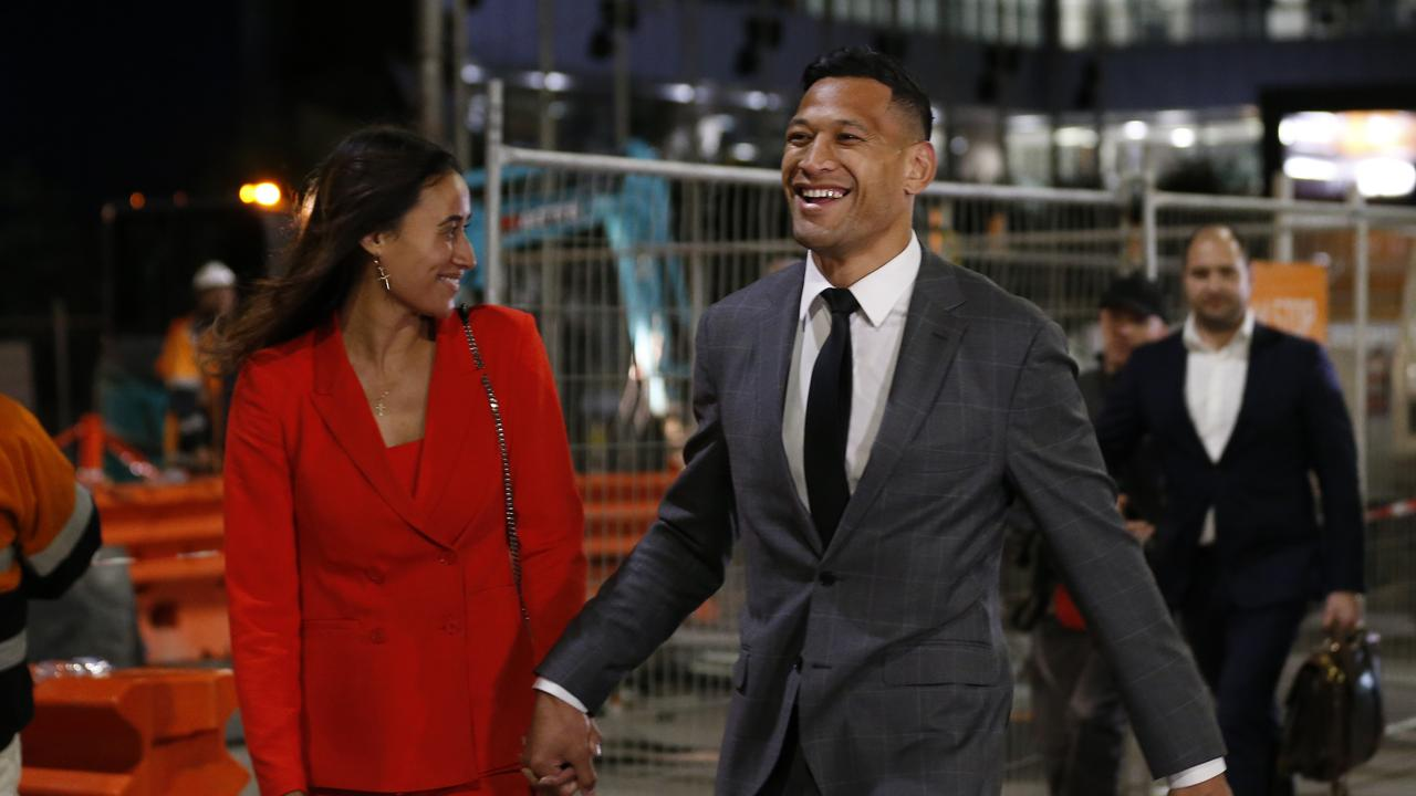 Israel and Maria Folau leave their mediation meeting With Rugby Australia.