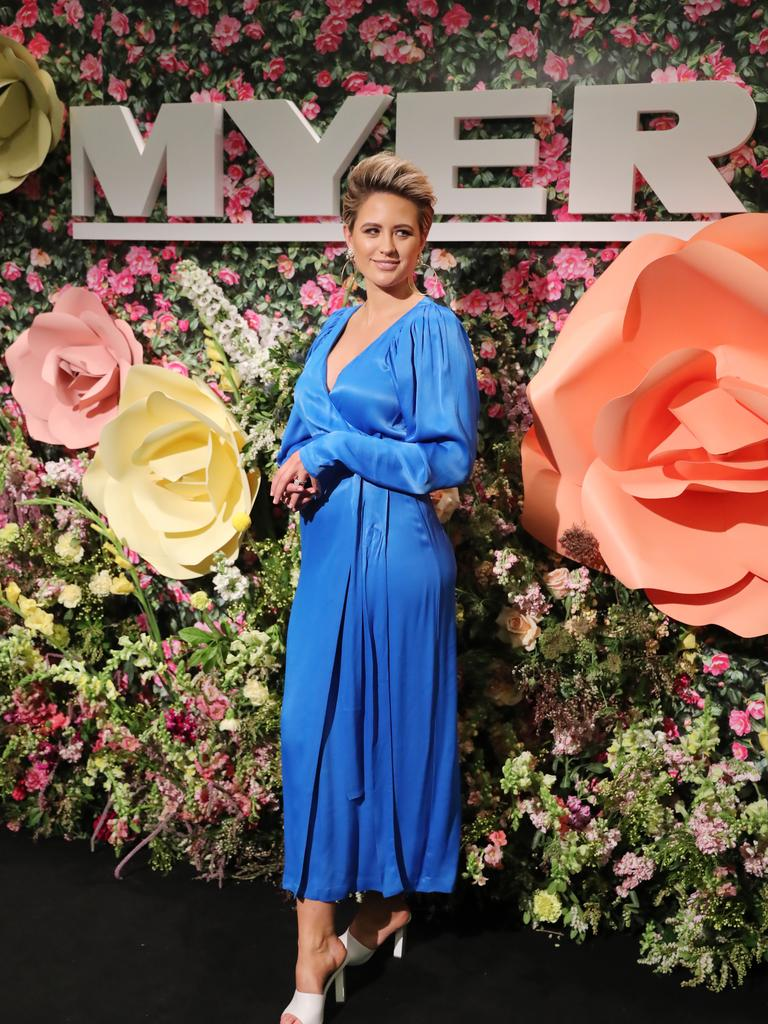 Myer's Spring event where Jesinta Franklin attended in style. Picture: Alex Coppel