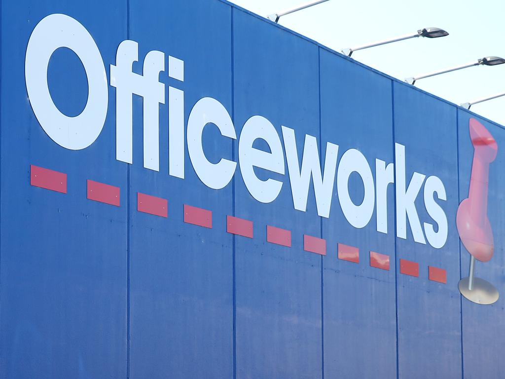 Officeworks also ranked well. Picture: Alison Wynd