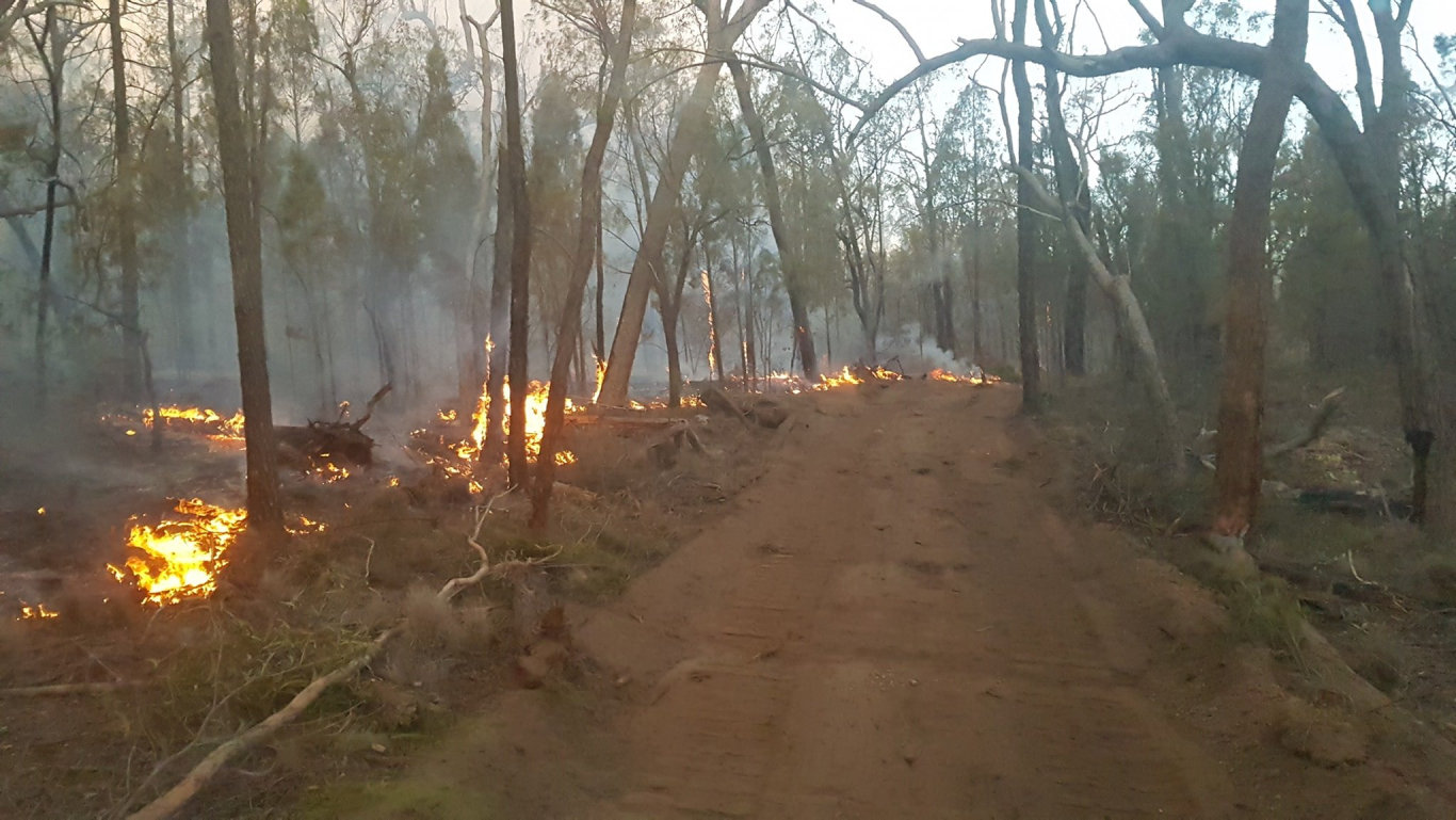 Cambooya Rural Fire Brigade shared these photos of the Forest Ridge and Cypress Gardens fire, yesterday, December 4.