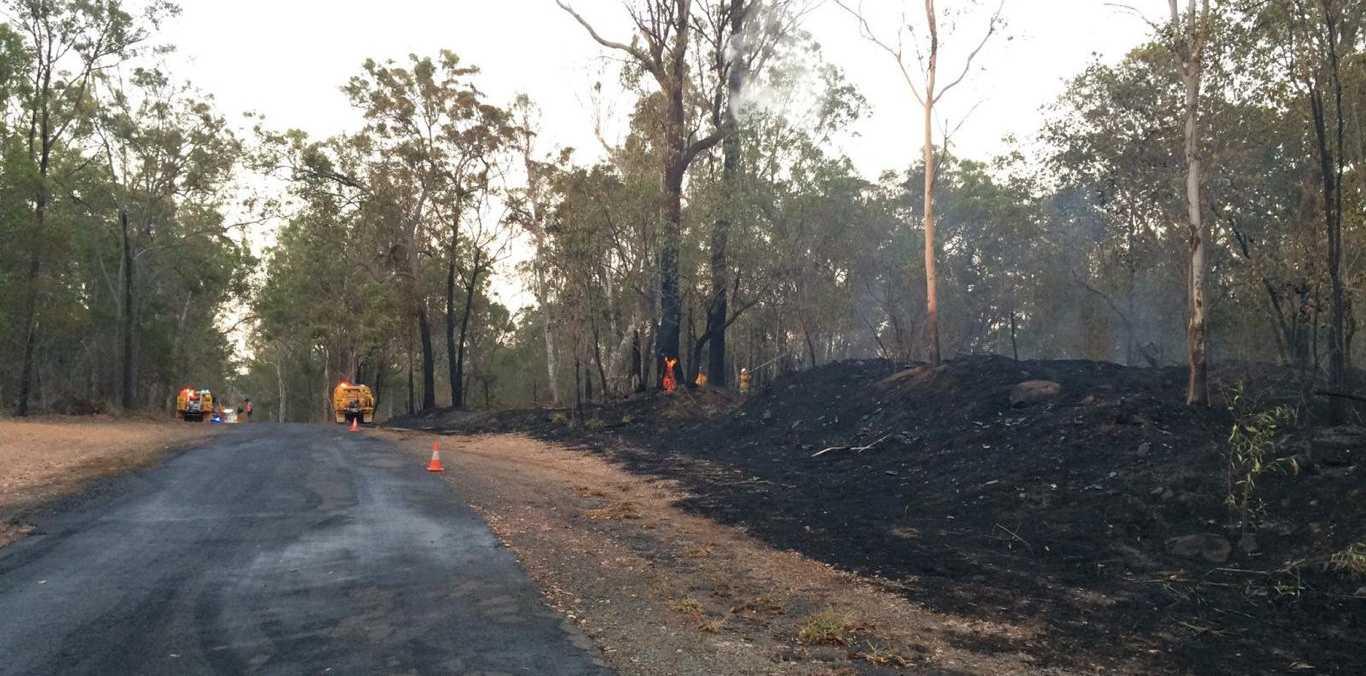 Crews on scene at a fire burning near Owanyilla.