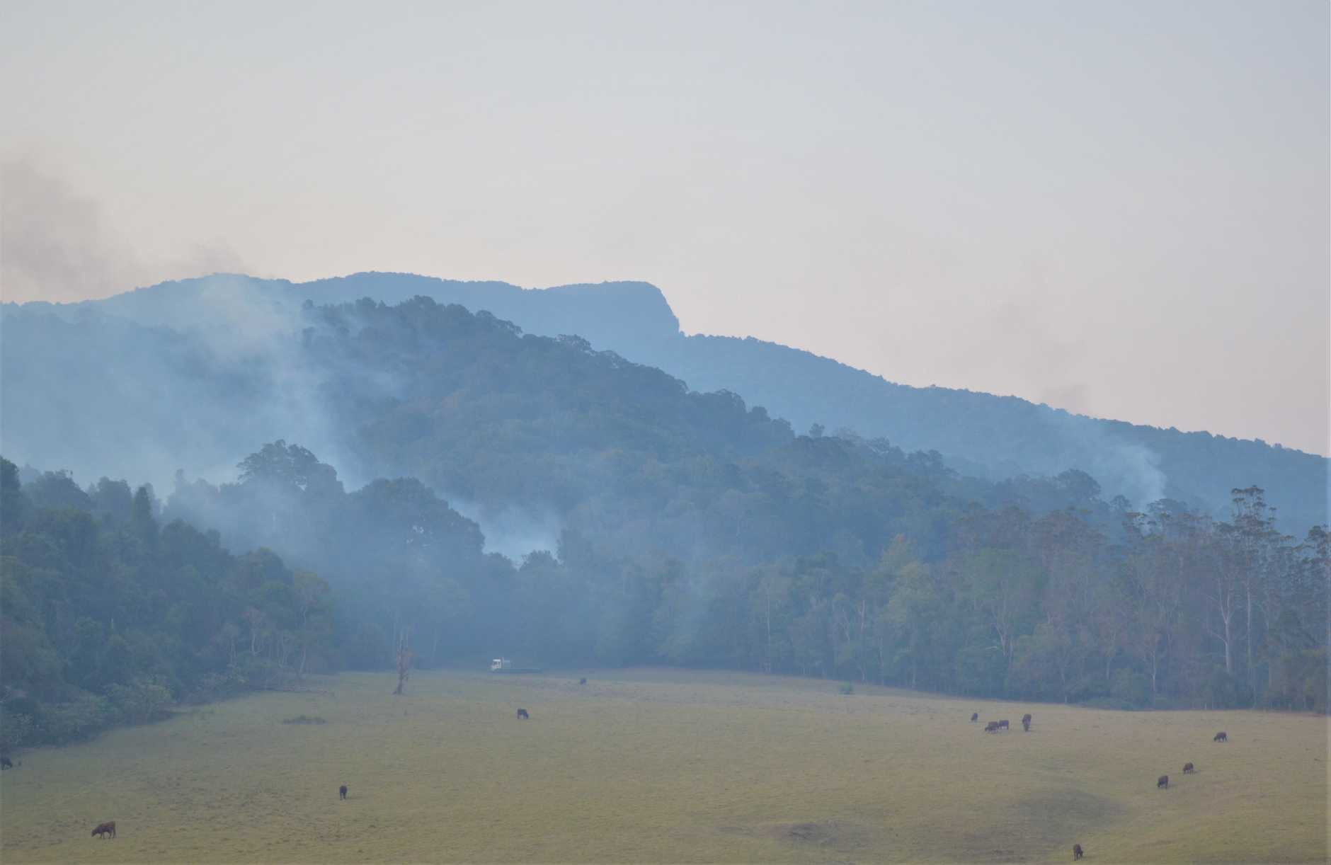 SMOKY MOUNTAINS: Bushfires continue to plague the area around Spring Creek Rd.