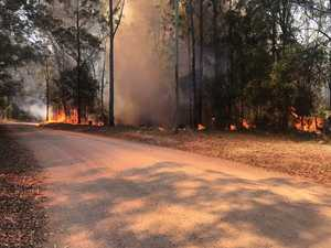 Fire crews, water bombers contain hinterland blaze
