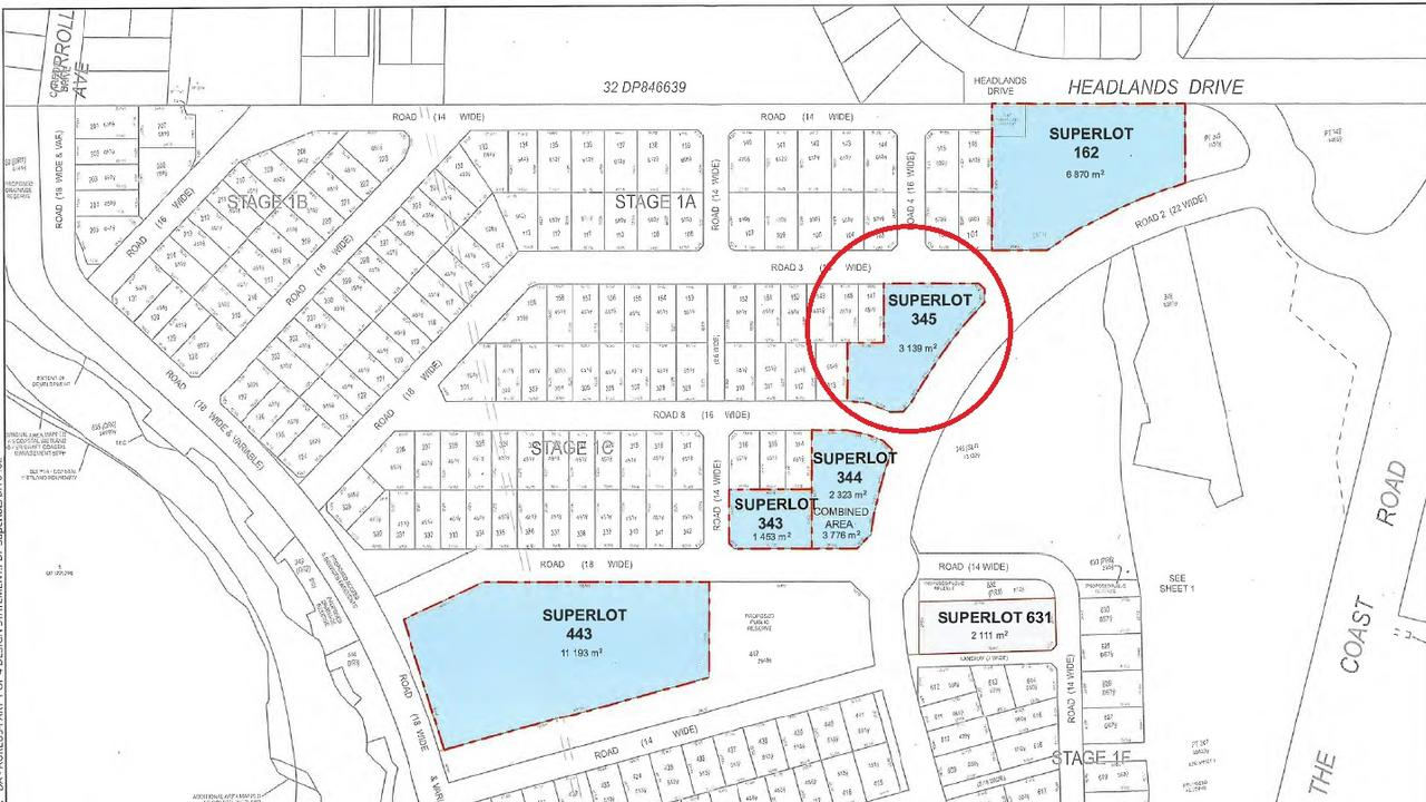A new 10-residence strata title subdivision has been proposed for one of the superlots within the Aureus development at Skennars Head.