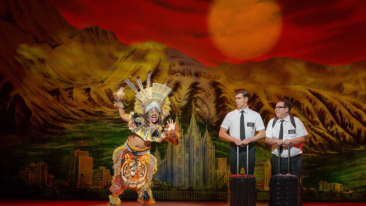 Blake Bowden and Nyk Bielak are back in Queensland with The Book of Mormon.