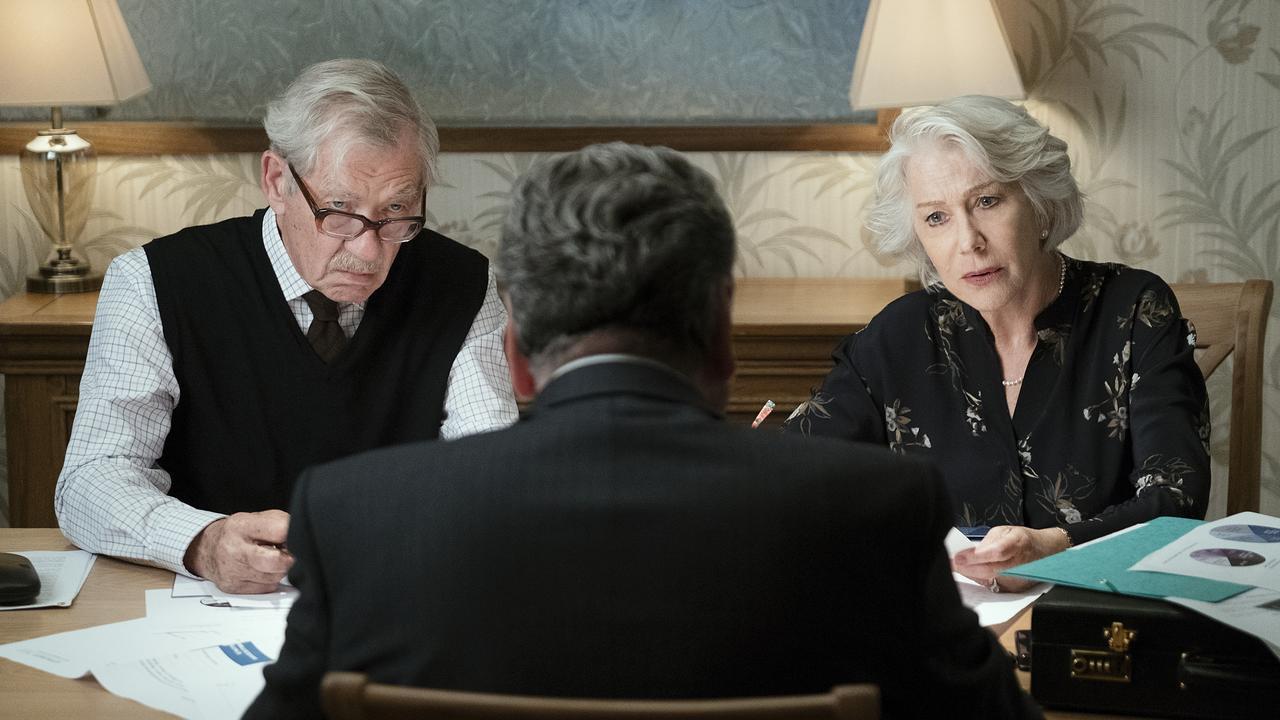Ian McKellen and Helen Mirren in The Good Liar. Picture: AP