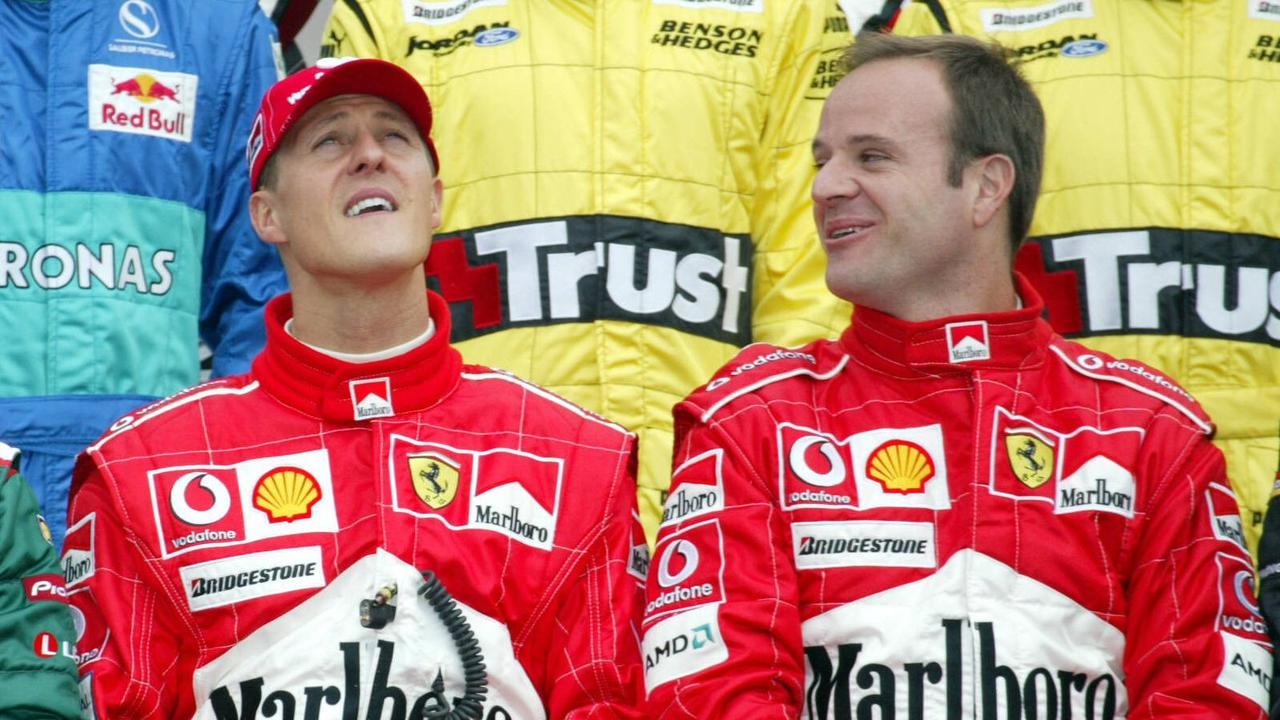 Michael Schumacher and Rubens Barrichello.