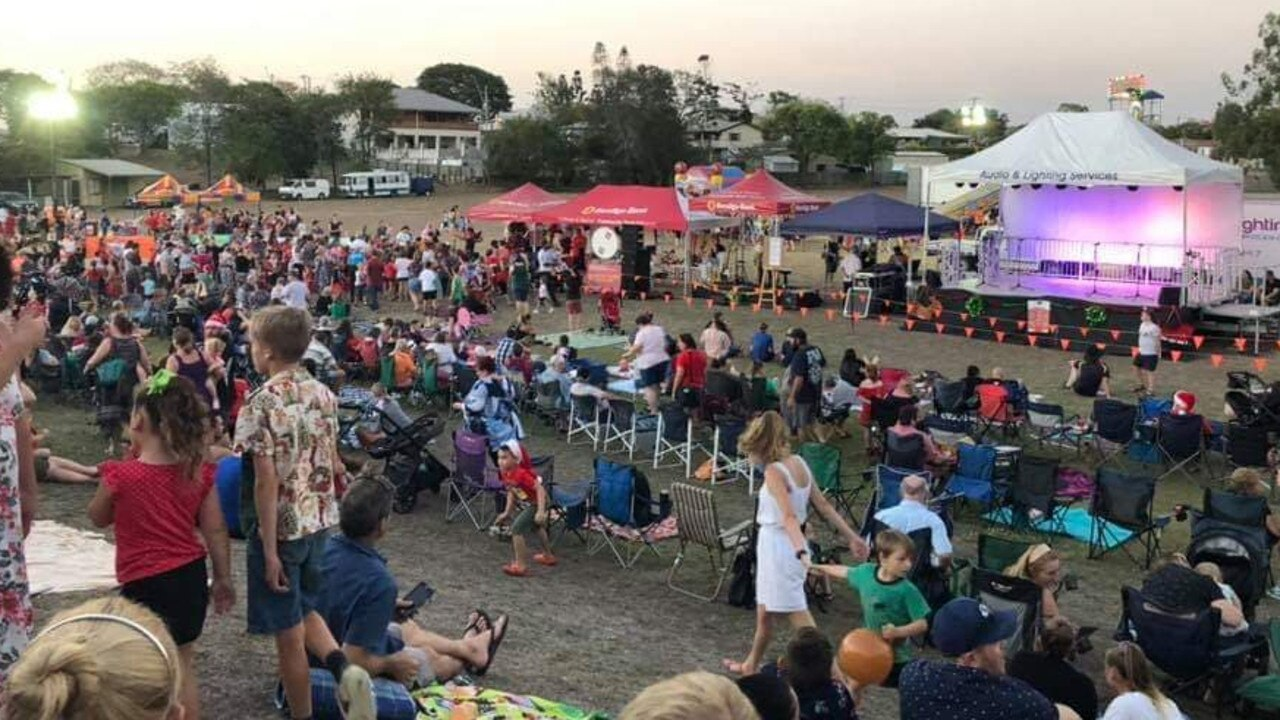 Crowd gathers at the Calliope Community Carols 29 November 2019