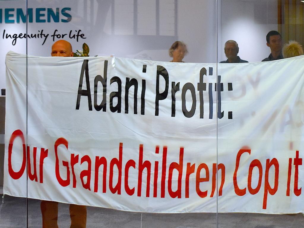 Stop Adani protesters at Siemens' Bowen Hills headquarters