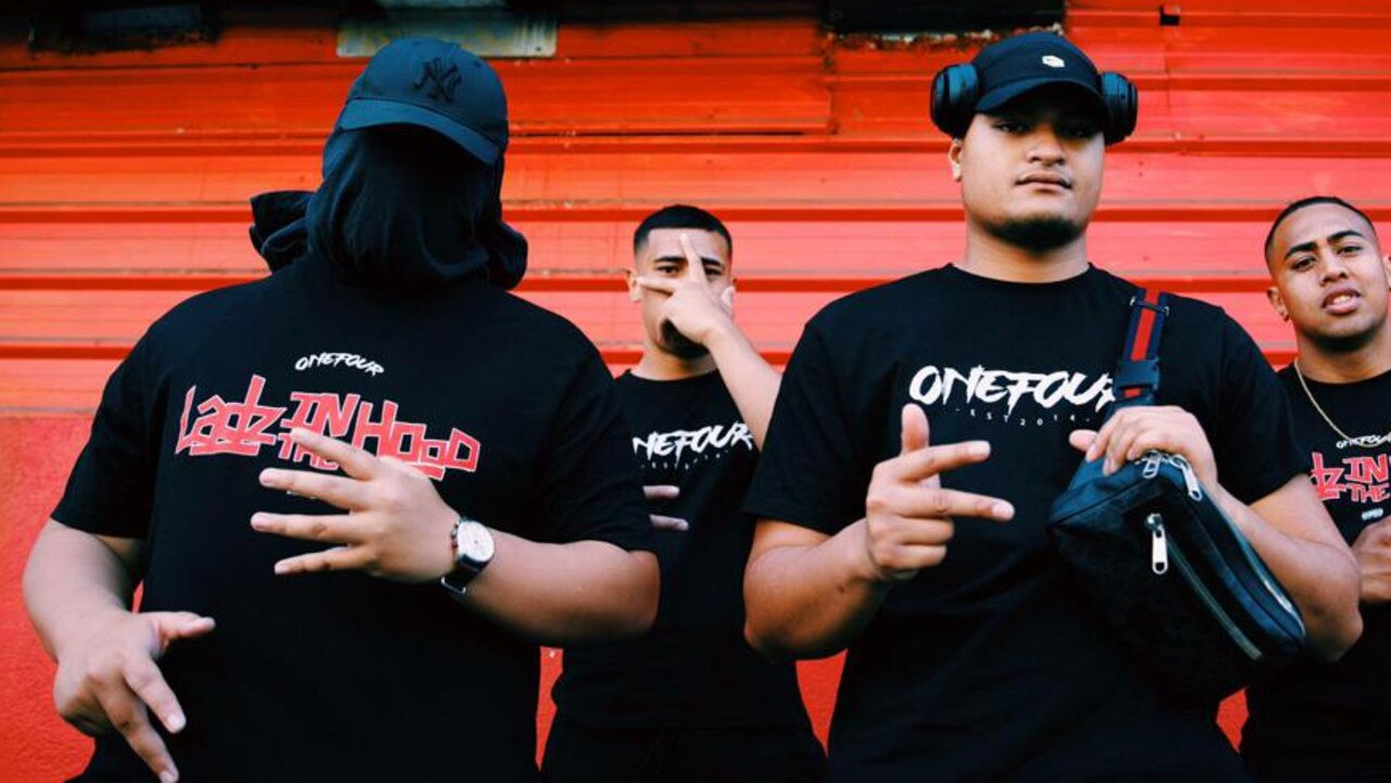 Sydney rap act OneFour L-R: Lekks, Pio Misa, known as YP, Spenny and JMZ.