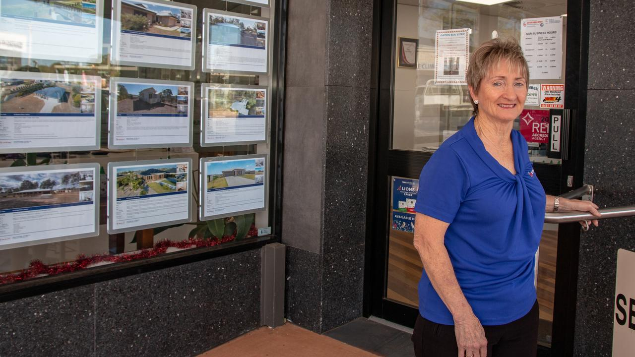 UP AND DOWN: Gatton Real Estate agent Rhonda McLucas said 2019 had been a topsy-turvy year for the real estate market. Picture: Dominic Elsome