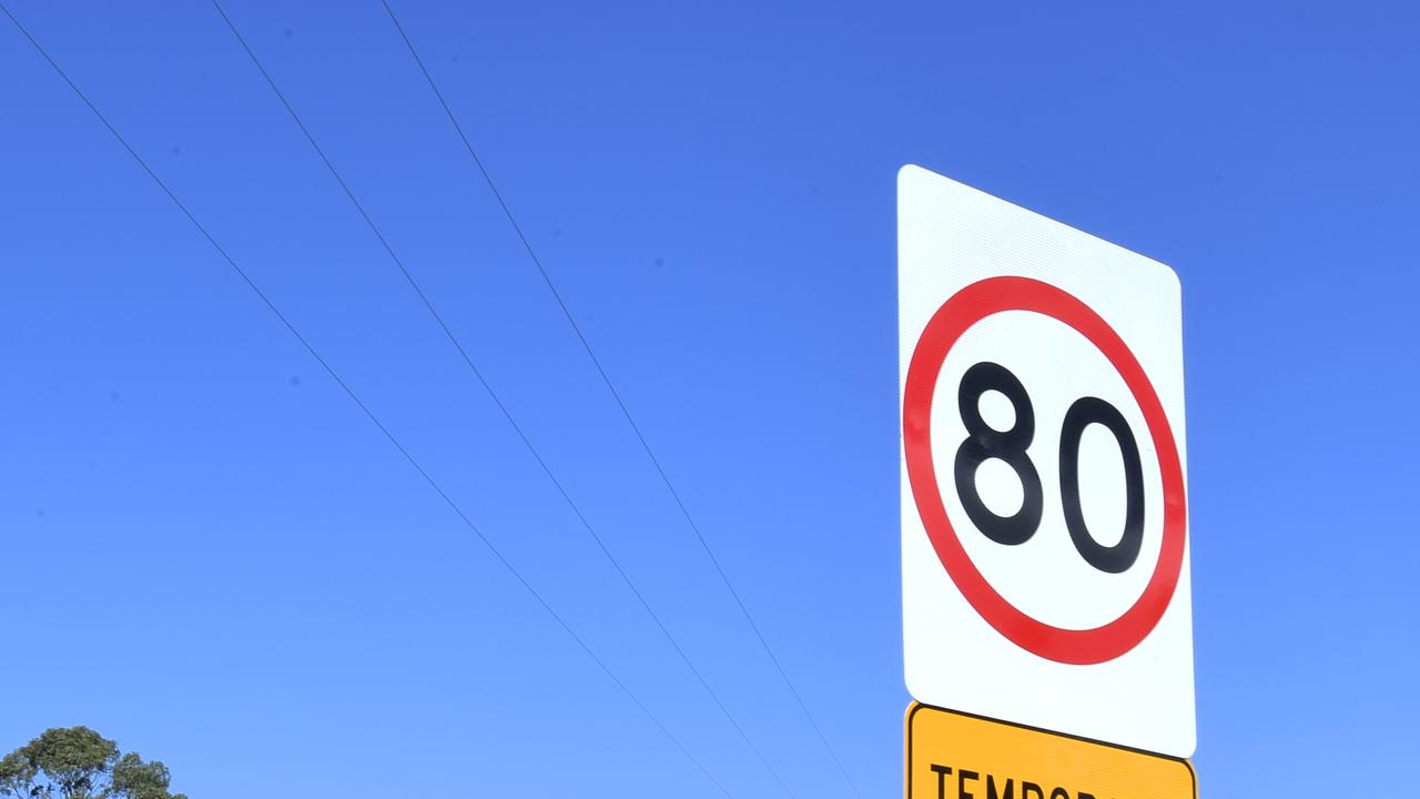 SPEED DROPPED: The speed limit along the Warrego Highway near the Niemeyer Road intersection in Hatton Vale has been reduced from 100km/h to 80km/h.