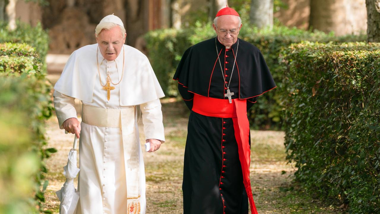Anthony Hopkins and Jonathan Pryce are expertly cast in The Two Popes.