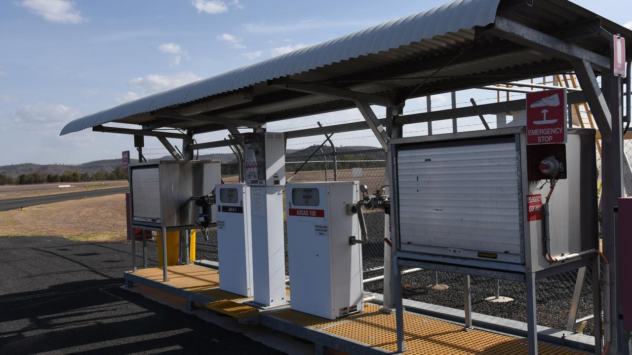 The refuelling station at Gayndah Aerodrome, Ted Kirk Field. Photo: Alex Treacy