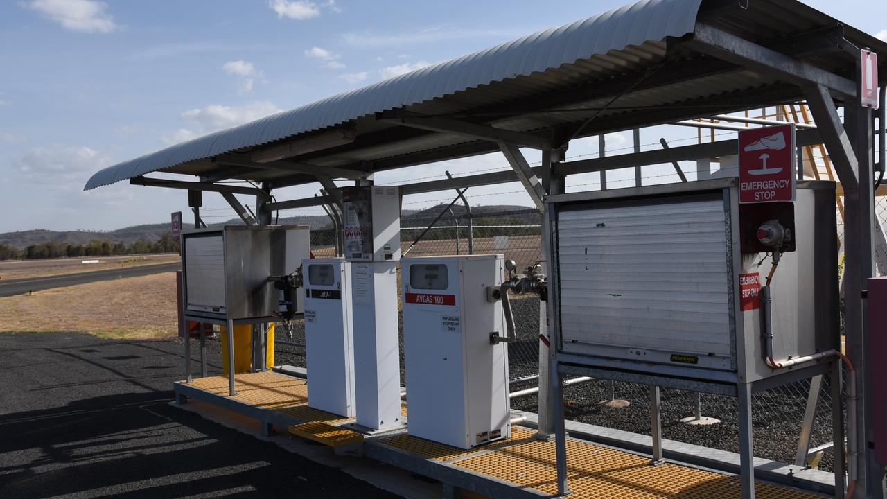 The refuelling station at Gayndah Aerodrome, Ted Kirk Field. Photo: Alex Treacy