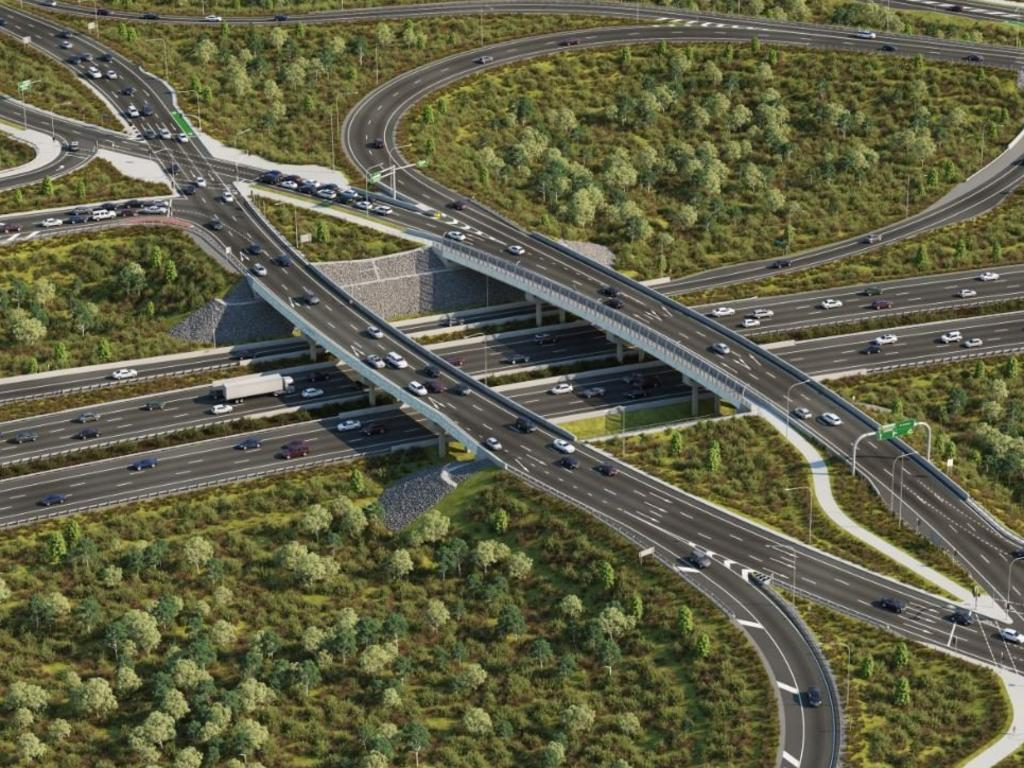 """It's been hailed as a """"revolution"""" to fix traffic flow problems on two major Sunshine Coast roads, but according to the motorists the diverging diamond interchange at Glenview has been anything but. Photo: Contributed"""