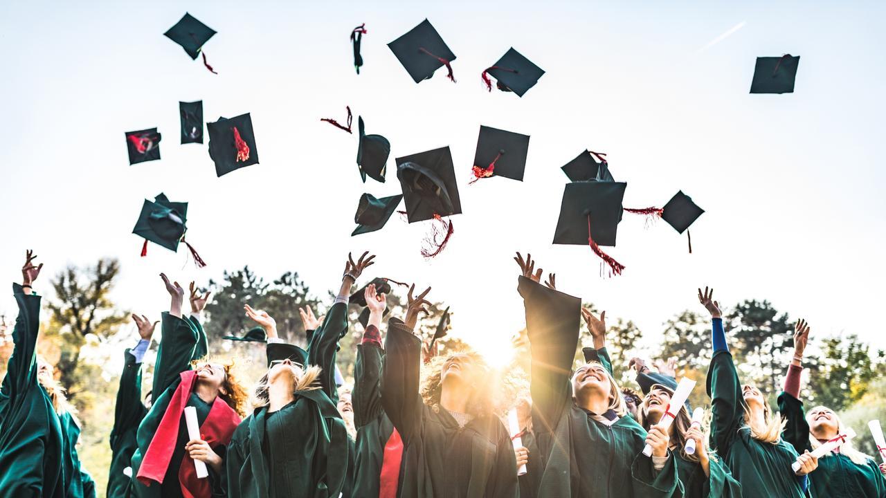 Students from CQUniversity Rockhampton graduate today.