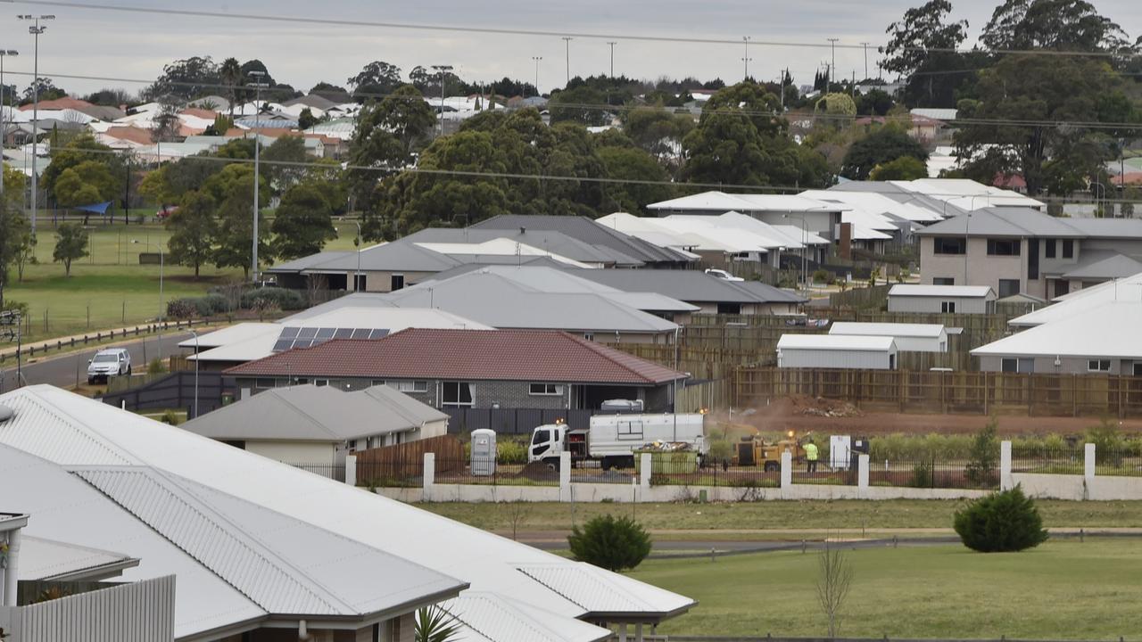 Housing estate in Toowoomba.