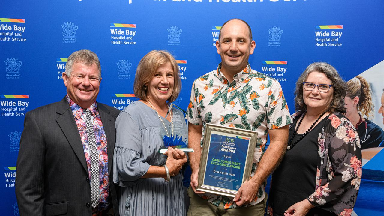 Care Comes First Excellence Award went to the Wide Bay Hospital and Health Service Oral Health Team who were represented by John Shaw, Melissa Commandeur, Andrew McDonald and Judy Martin-Bax.