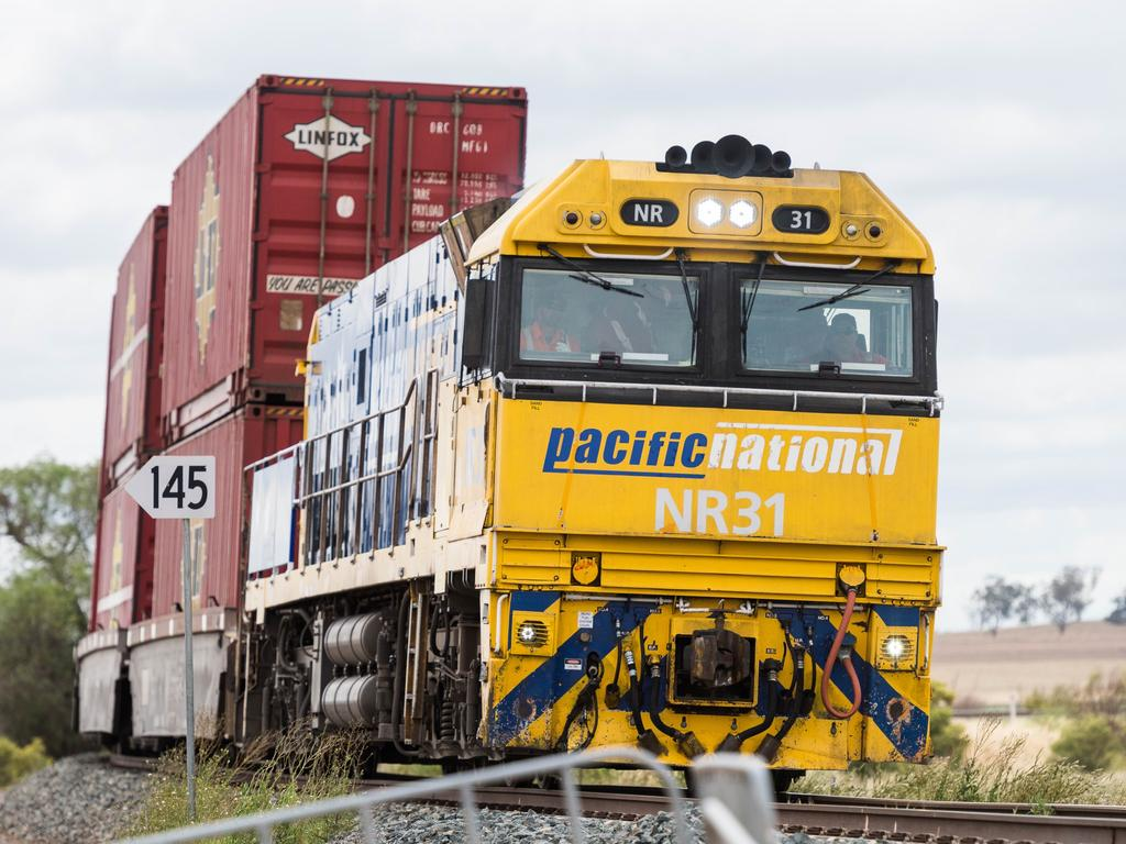 The Inland Rail would accommodate double-stack trains between Brisbane and Melbourne.