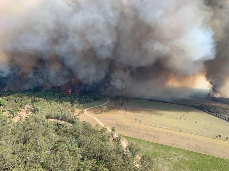 The Myall Creek Rd bushfire on December 6.
