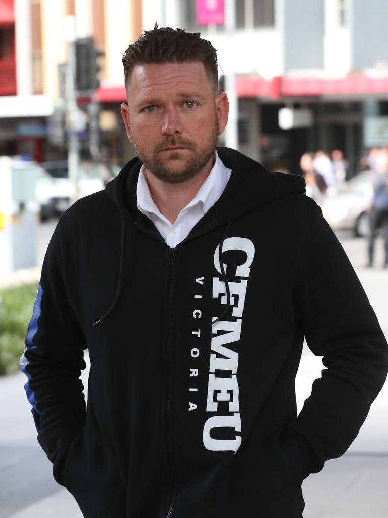 CFMEU organiser Kane Pearson.