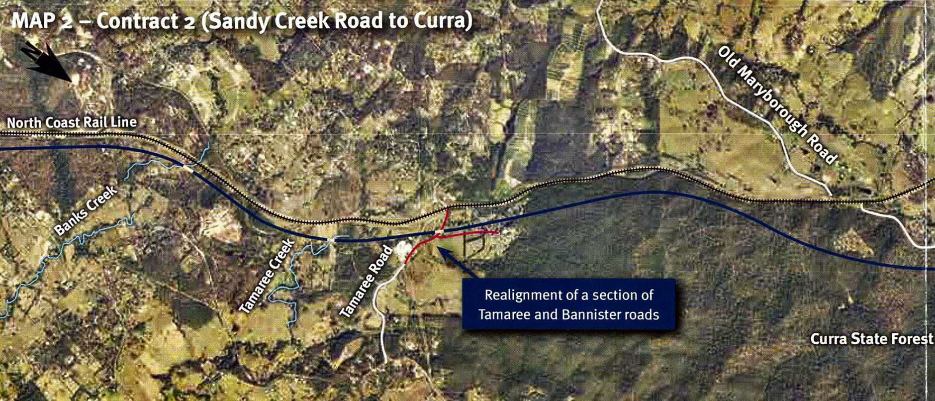 Bruce Highway Upgrade Cooroy to Curra. Section D: Woondum to Curra Map 2 part 1