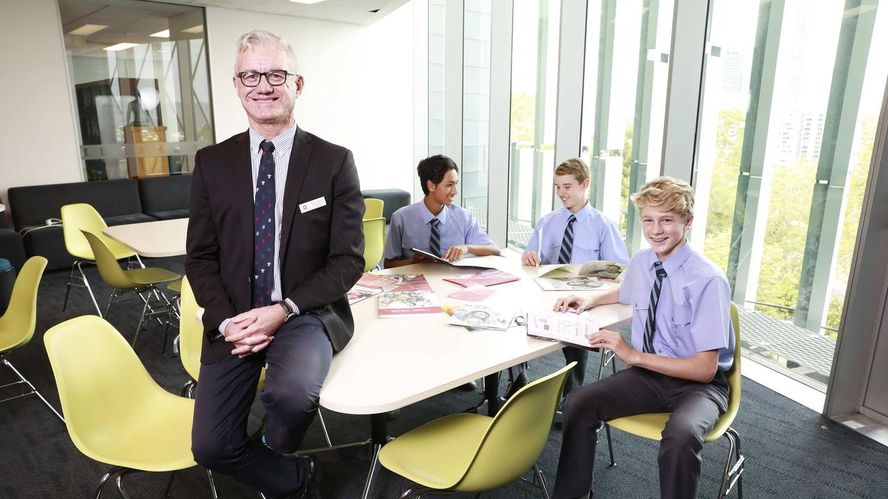 Steve Uscinski - Deputy Head of teaching and learning - at Brisbane Grammar School has revealed the secrets to NAPLAN success. (AAP Image/Claudia Baxter)