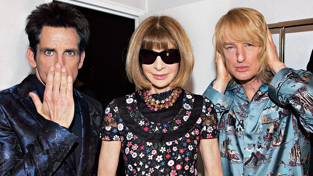 Ben Stiller, Anna Wintour and Owen Wilson in Zoolander 2. Picture: Supplied