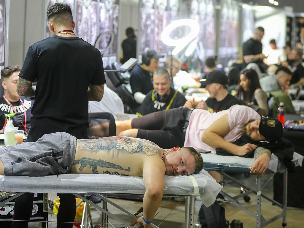 Nearly 15,000 people are expected to visit the Australian Tattoo Expo this weekend. Picture: Alex Coppel
