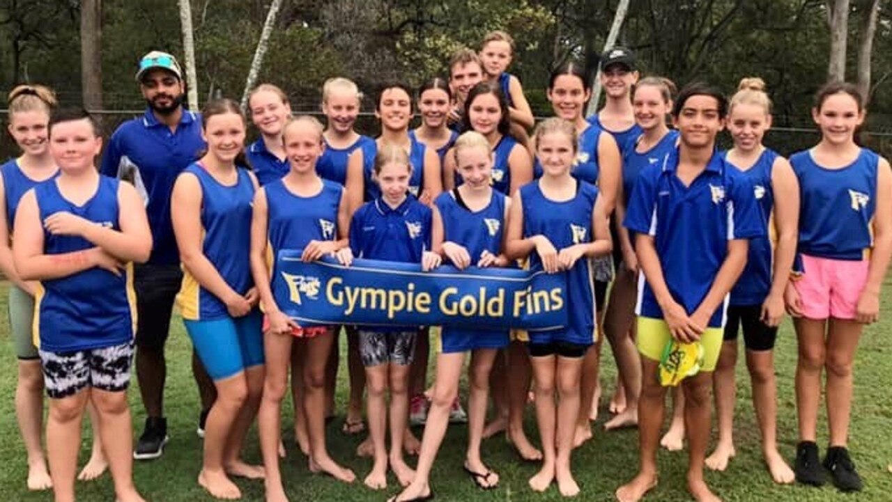 Gympie Gold Fins members ready to make a big splash in the pool this Saturday as the compete in the 2019 Gympie Gold Rush Swim Meet.