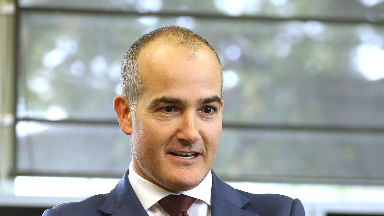Education minister James Merlino announced measures earlier this year to support principals. Picture: Alison Wynd
