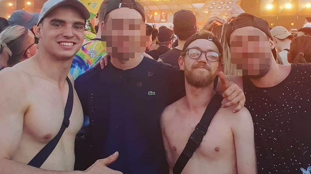 Instagram photo of Liam Anderson (second right with glasses) and Mathew Flame.