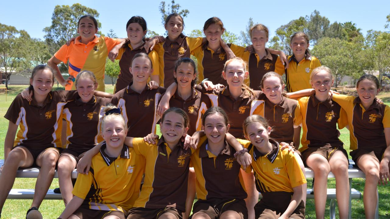 All of the girls who represented Queensland in various sports from St John's Lutheran School this year.