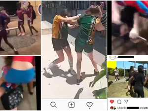 Pulling hair and pulling knives: Schoolgirls caught on film