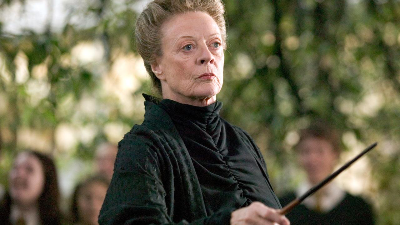 Maggie Smith played Professor McGonagall in 7 of the 8 Harry Potter films. Picture: Supplied.