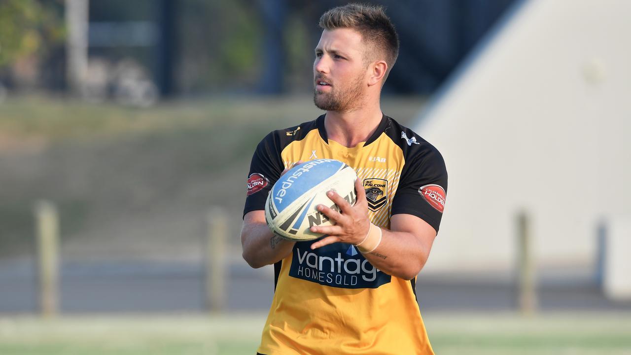 AT TRAINING: Sunshine Coast Falcons' Tyson Smoothy. Photo: Patrick Woods/Sunshine Coast Daily.