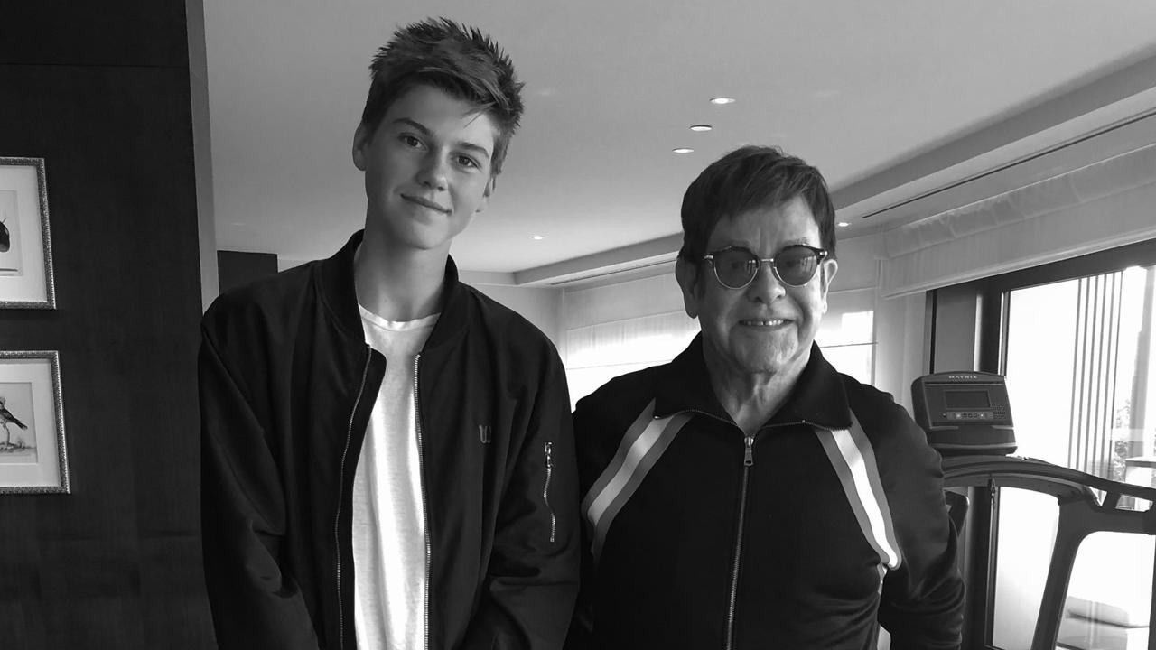 John was blown away by Australian teen soulful pop artist Ruel. Picture: Instagram/Elton John