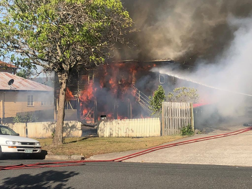 Housefire rages at Carina. Picture: Twitter/Queensland Ambulance Service