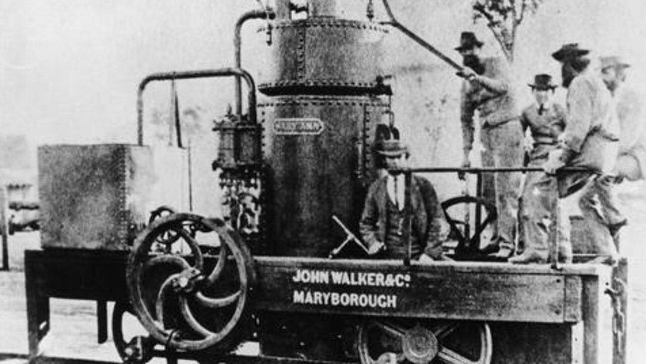 The Mary Ann steam train built in 1873.