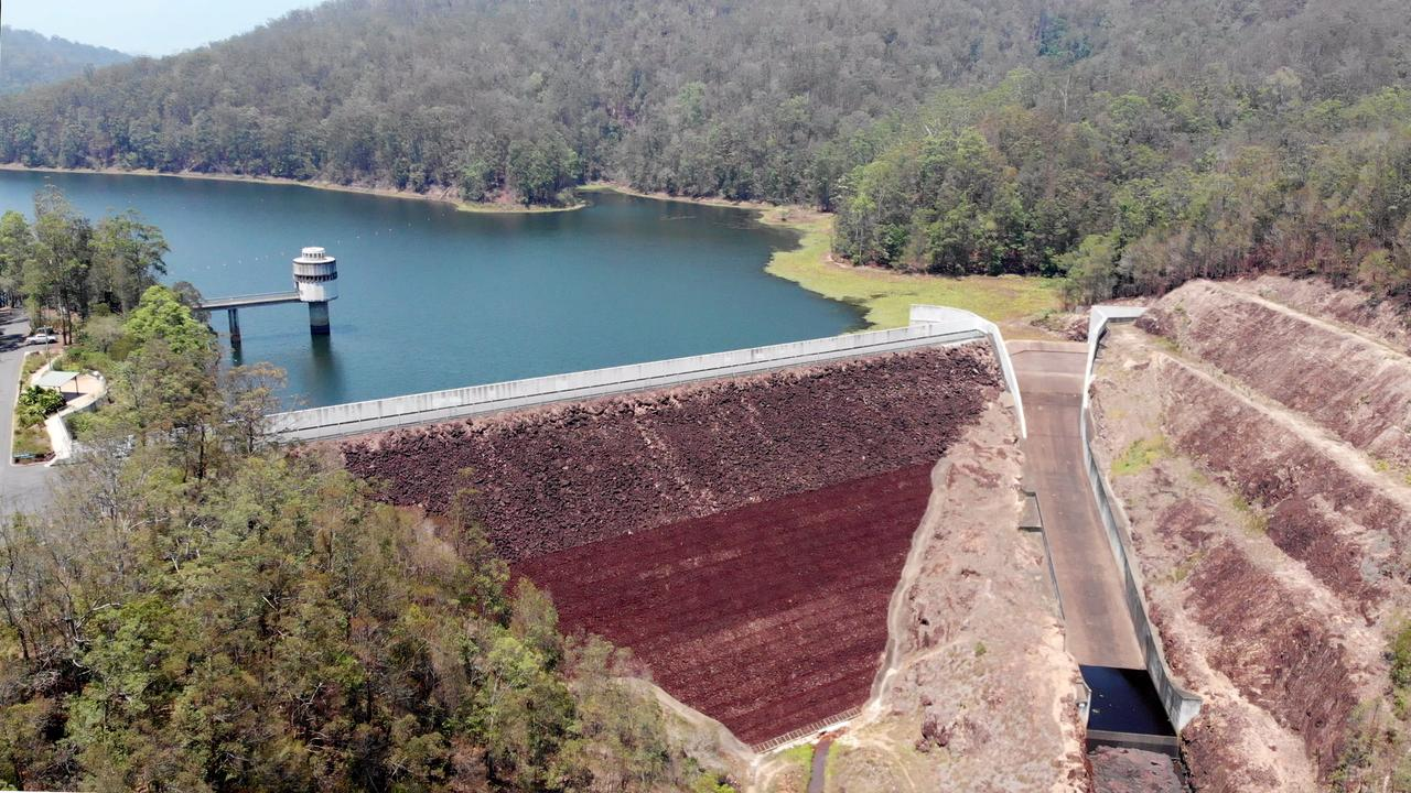 The Clarrie Hall Dam at Doon Doon, the Tweed Shire's main water supply is steadily dropping forcing council to impose tough water restrictions. Photo: SCOTT POWICK