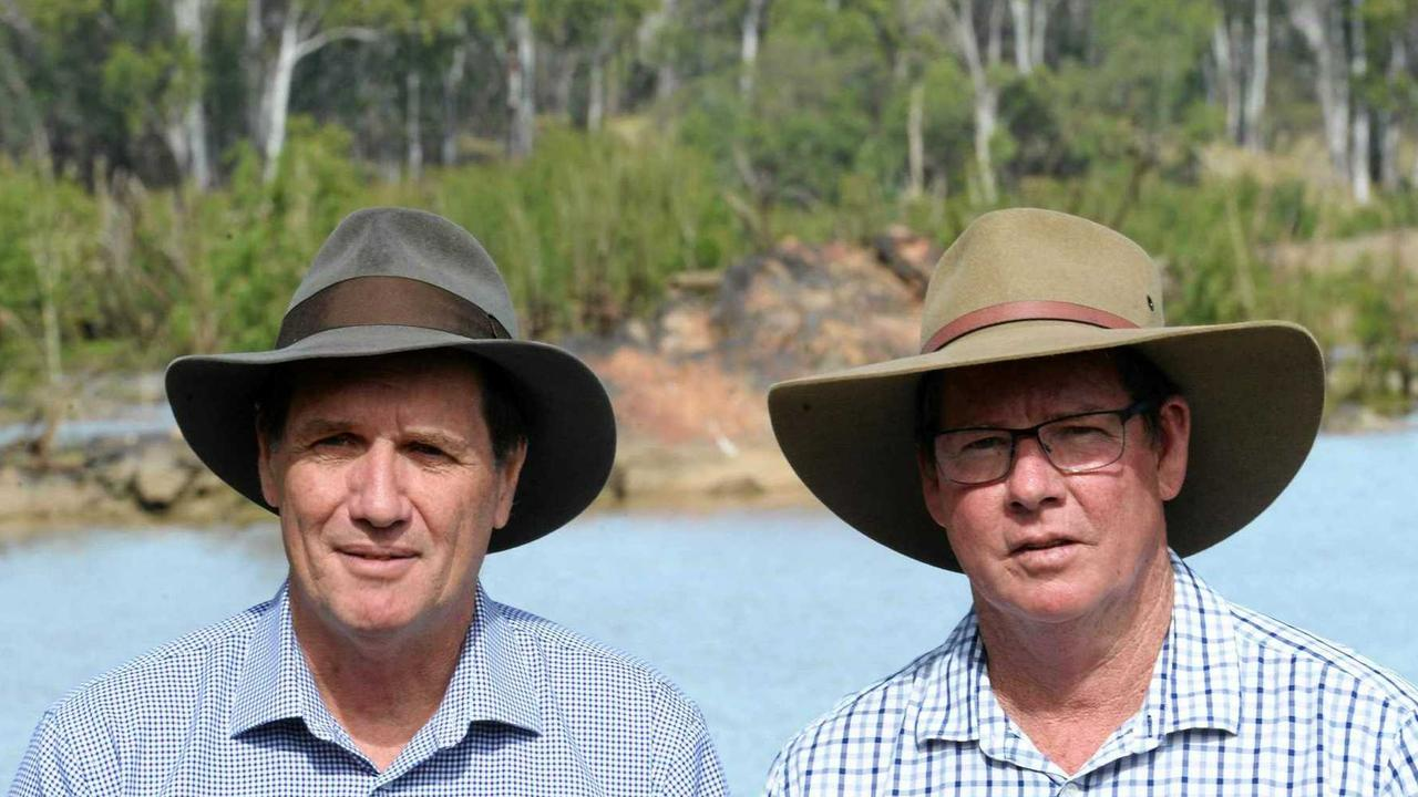 Minister for Natural Resources Anthony Lynham and Rockhampton MP Barry O'Rourke.