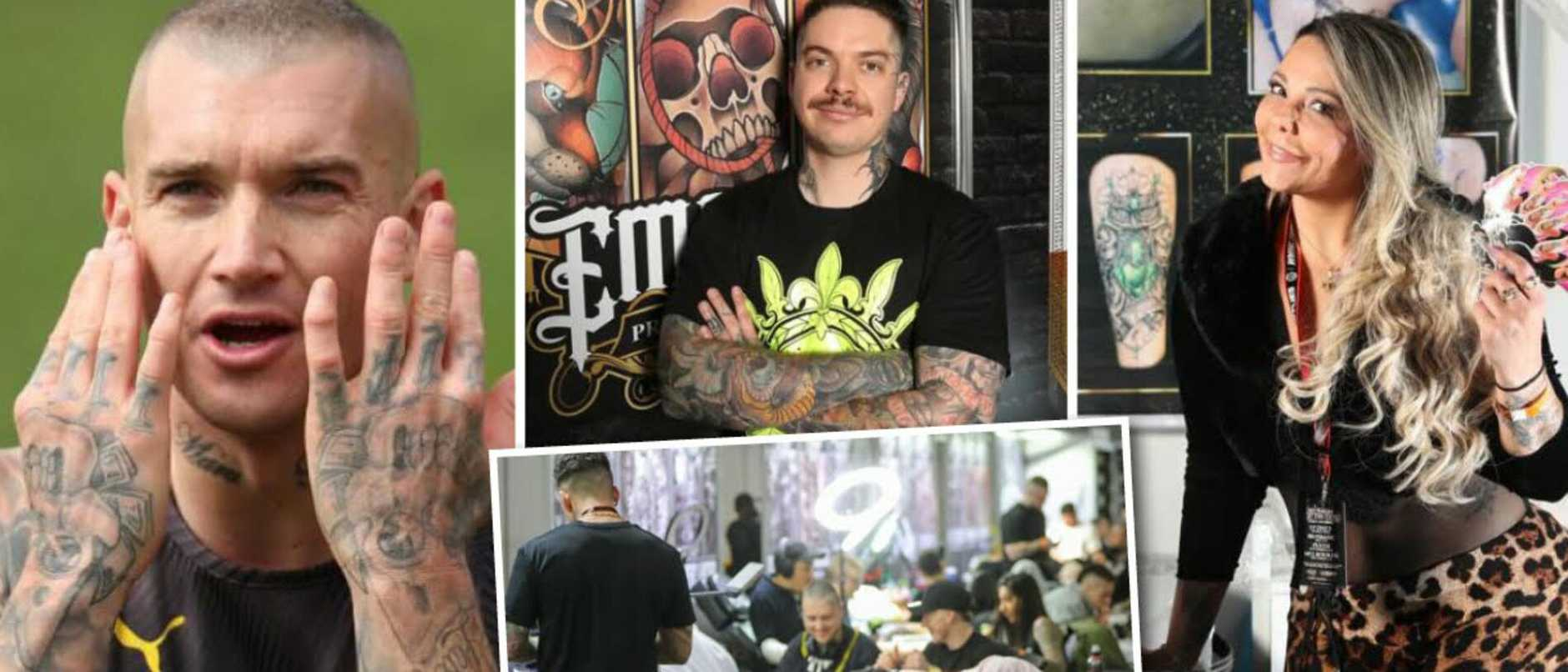 Australians are spending an arm and a leg to get tattoos inspired by footballers and actors.